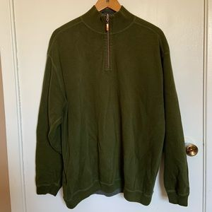 Tommy Bahama Quarter zip sweater size L